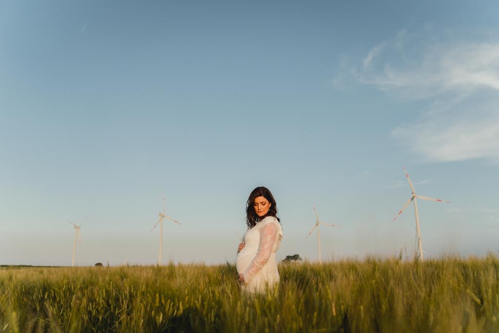 sessione di gravidanza pale eoliche
